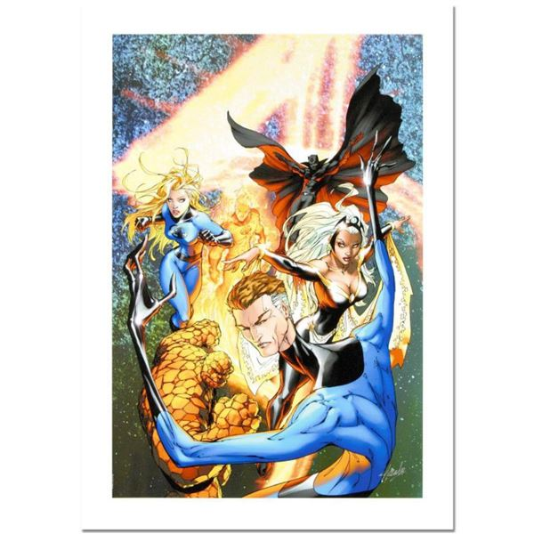 """Stan Lee Signed, """"Fantastic Four #548"""" Numbered Numbered Marvel Comics Limited Edition Canvas by Mic"""