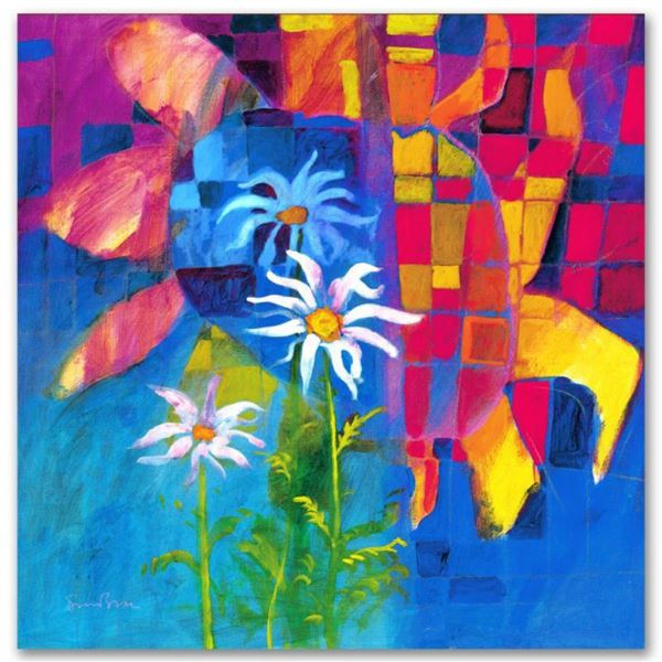 """""""Together We Chase The Sun"""" Limited Edition Giclee on Canvas by Simon Bull, Numbered and Signed. Thi"""