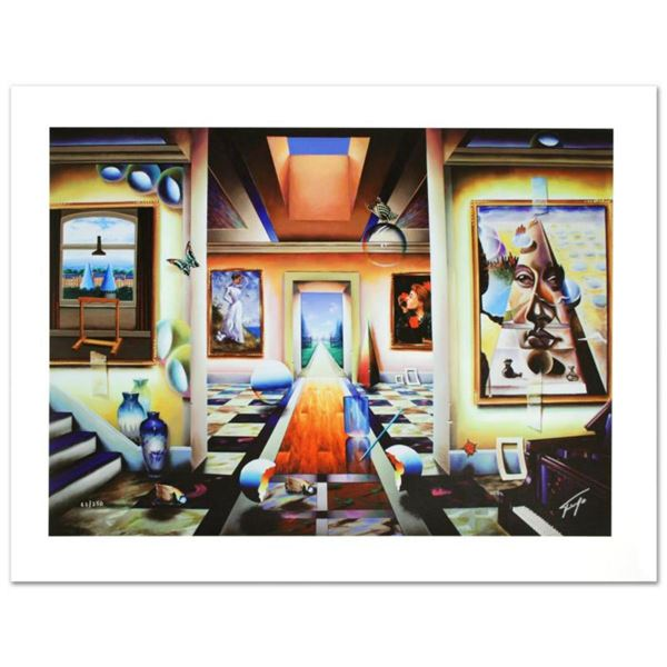 """""""Into the Garden"""" Limited Edition Giclee on Canvas by Ferjo, Numbered and Hand Signed by the Artist."""