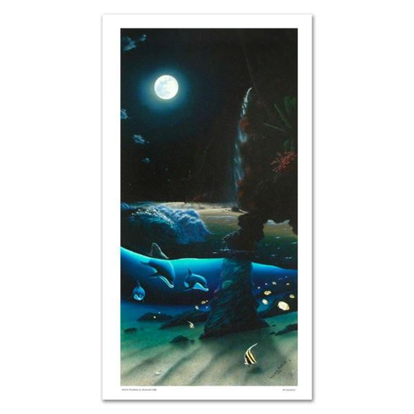 """""""Island Paradise"""" Limited Edition Giclee on Canvas (20"""" x 40"""") by renowned artist WYLAND, Numbered a"""