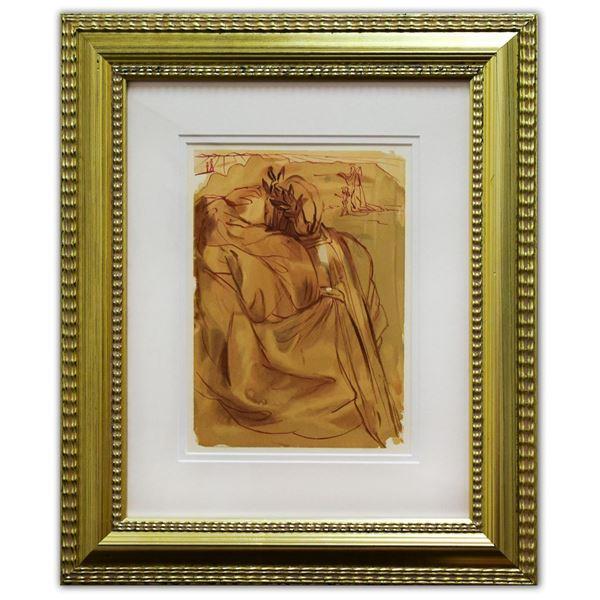 "Salvador Dali- Original Color Woodcut on B.F.K. Rives Paper ""Purgatory 30"""