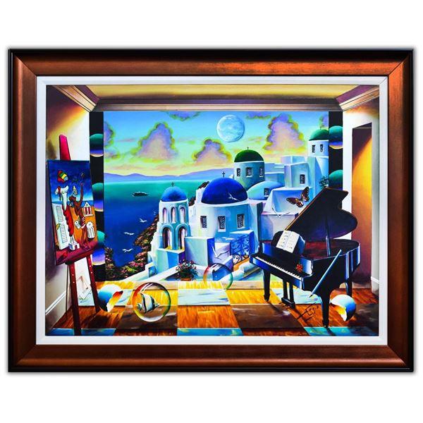 "Ferjo- Original Oil on Canvas ""Gorgeous Santorini"""