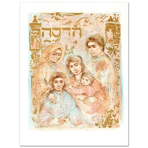 """""""Hadassah, The Generation"""" Limited Edition Lithograph by Edna Hibel, Numbered and Hand Signed with C"""