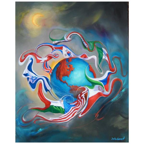 """Jim Warren, """"Come Together"""" Hand Signed, Artist Embellished AP Limited Edition Giclee on Canvas with"""