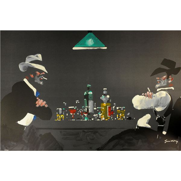 """Waldemar Swierzy (1931-2013)- Hand Pulled Original Lithograph """"Play for Keeps"""""""