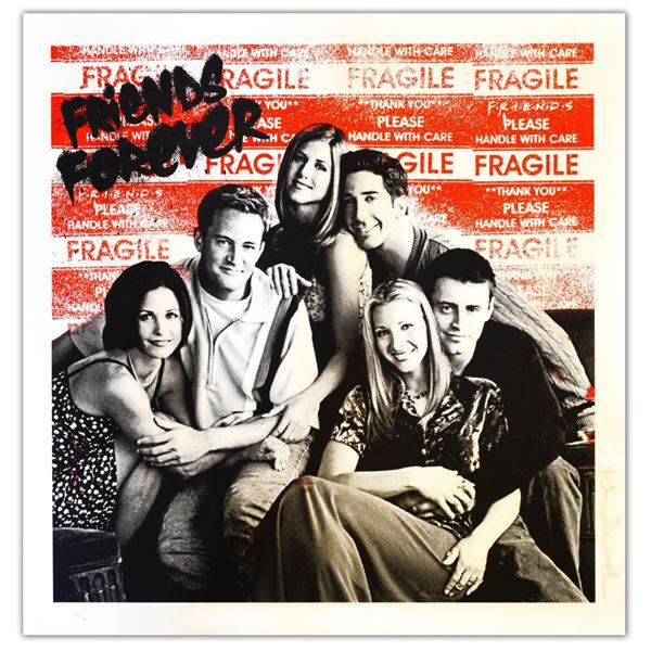 """Mr. Brainwash- Original Silkscreen """"I'll Be There For You 2021 (Friends Forever)"""""""