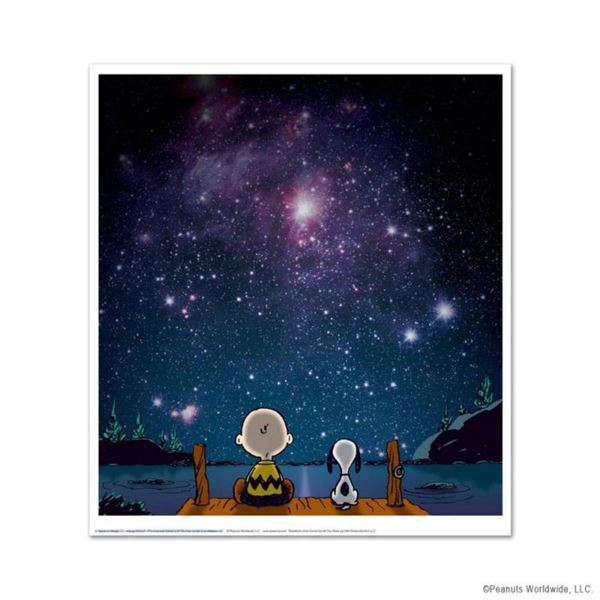 """Peanuts, """"Stars"""" Hand Numbered Limited Edition Fine Art Print with Certificate of Authenticity."""