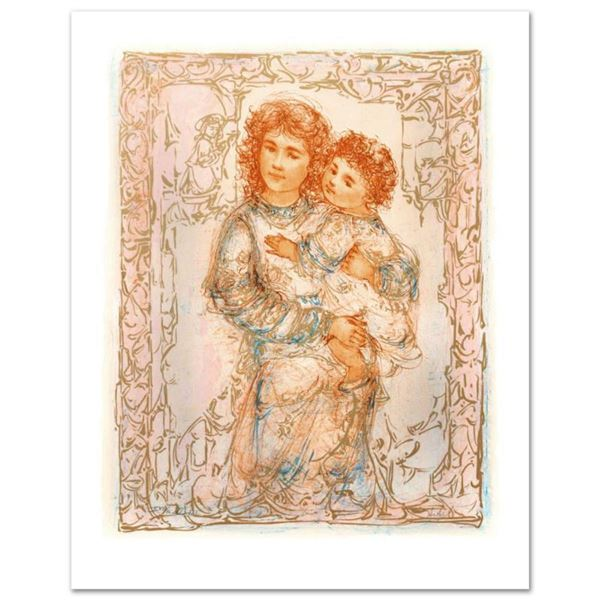 """""""Millennium Joy"""" Limited Edition Lithograph by Edna Hibel (1917-2014), Numbered and Hand Signed with"""