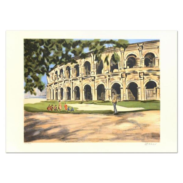 """Victor Zarou, """"Arles"""" Limited Edition Lithograph, Numbered and Hand Signed."""