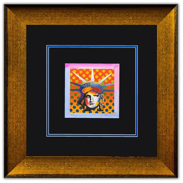 """Peter Max- Original Lithograph """"Liberty Head XI (Mini)"""""""