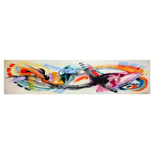 """Alfred Gockel, """"Fire and Ice II"""" Hand Signed Limited Edition on Canvas with Letter of Authenticity."""