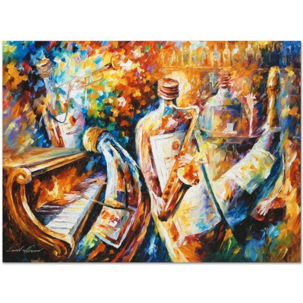 """Leonid Afremov (1955-2019) """"Bottle Jazz I"""" Limited Edition Giclee on Canvas, Numbered and Signed. Th"""