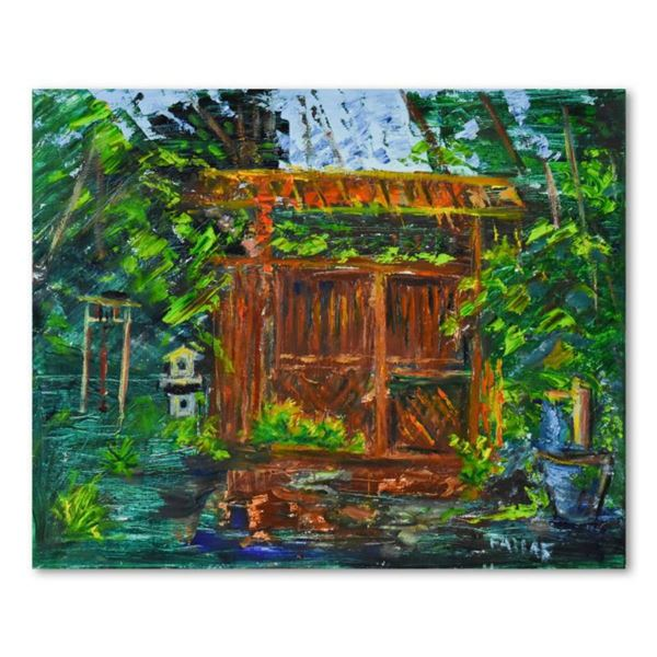 """Elliot Fallas, """"Zen Garden"""" Original Oil Painting on Canvas, Hand Signed with Letter of Authenticity"""