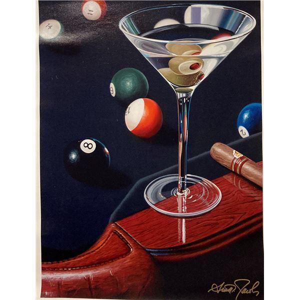 "Scott Jacobs- Original Giclee on Canvas ""Corner Pocket"""