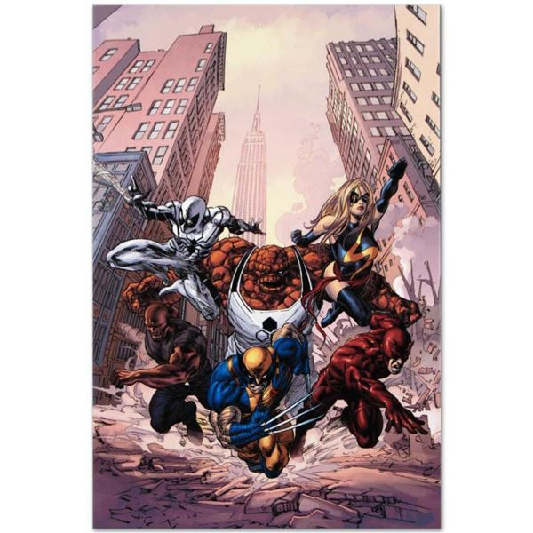"""Marvel Comics """"New Avengers #17"""" Numbered Limited Edition Giclee on Canvas by Mike Deodato Jr. with"""