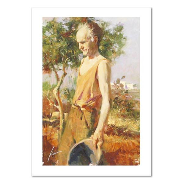 """Pino (1931-2010), """"Afternoon Chores"""" Limited Edition on Canvas, Numbered and Hand Signed with Certif"""