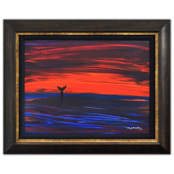 """Wyland- Original Painting on Canvas """"Abstract"""""""