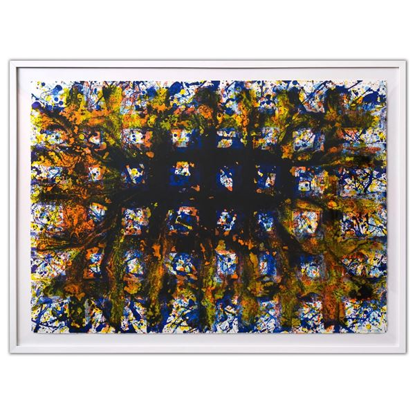 """SAM FRANCIS (1923-1994)- Lithograph in colours on Rives BFK wove paper """"Untitled, 1979"""""""