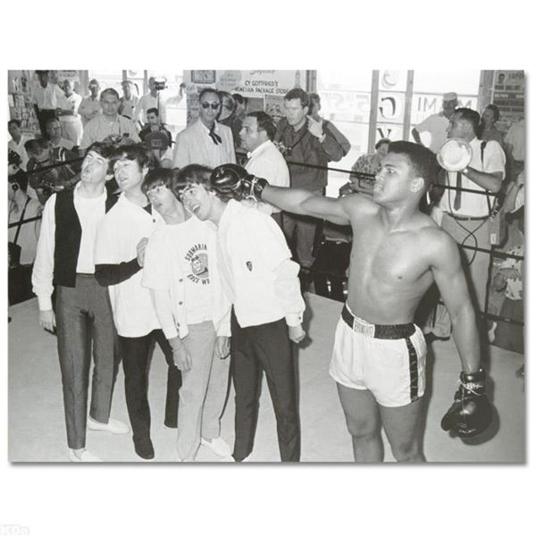 """""""Muhammad Ali Punching The Beatles"""" Licensed Photograph of Heavyweight Champ Muhammad Ali and the Be"""