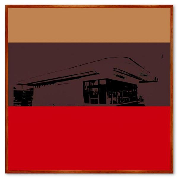 """Claudio Santini, """"Ciytyscape 5"""" Framed Hand Signed Limited Edition on Canvas with Letter of Authenti"""