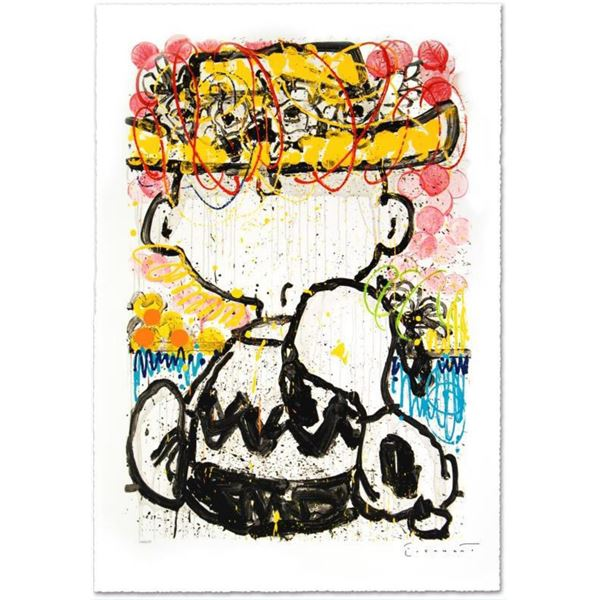 """Tom Everhart- Hand Pulled Original Lithograph """"Mon Ami"""""""