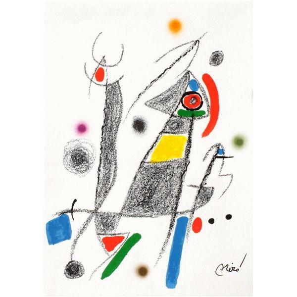 """Joan Miro- Lithograph """"Maravillas con variaciones acrosticas 06"""""""