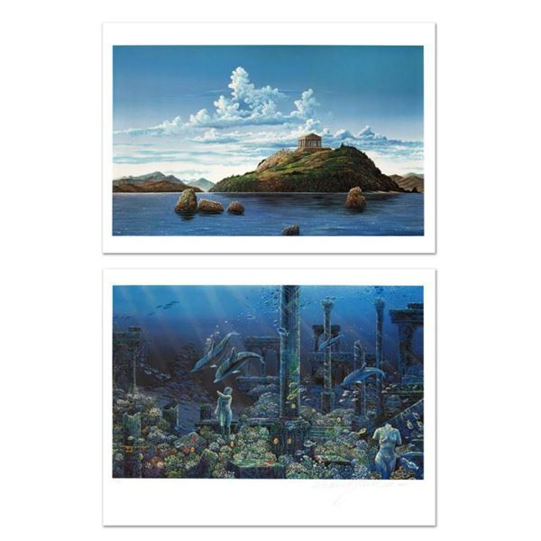 """""""Athenian Odyssey"""" Limited Edition Mixed Media Diptych by Robert Lyn Nelson, Numbered and Hand Signe"""