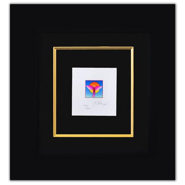 "Peter Max- Original Lithograph ""Angel with Sun Ver. II (Mini)"""