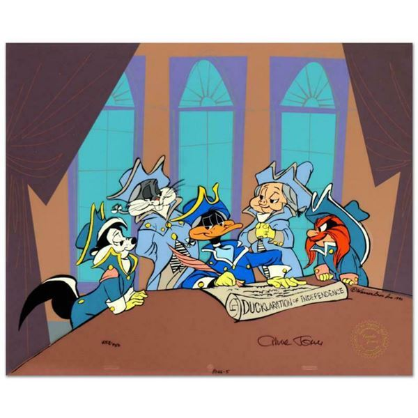 """Chuck Jones (1912-2002), """"Ducklaration of Independence"""" Limited Edition Animation Cel with Hand Pain"""