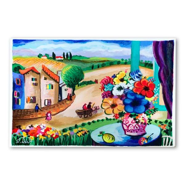 Shlomo Alter,  Summer Day II  Hand Signed Limited Edition Serigraph on Paper with Letter of Authenti