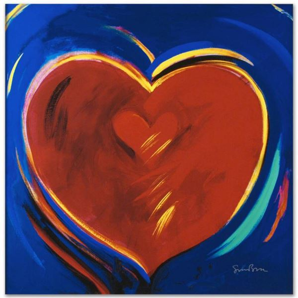 """""""To Hold You In My Heart"""" Limited Edition Giclee on Canvas by Simon Bull, Numbered and Signed. This"""