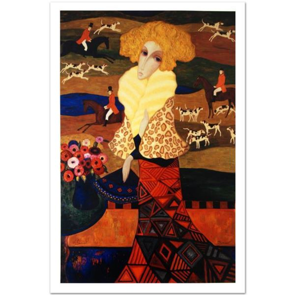 """Sergey Smirnov (1953-2006), """"Tapestry Of The Hunt"""" Limited Edition Mixed Media on Canvas (32.5"""" x 50"""