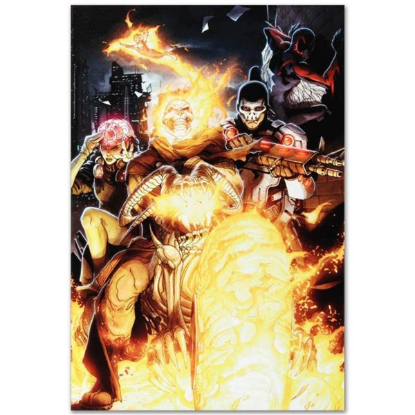 """Marvel Comics """"Timestorm 2009/2099 #2"""" is a Numbered Limited Edition Giclee on Canvas by Paul Renaud"""