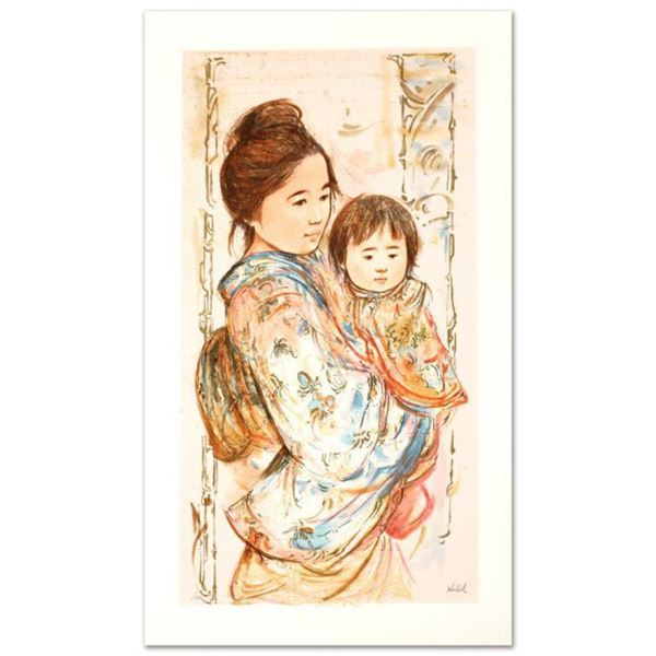 """""""Children's Day"""" Limited Edition Serigraph by Edna Hibel (1917-2014), Numbered and Hand Signed with"""
