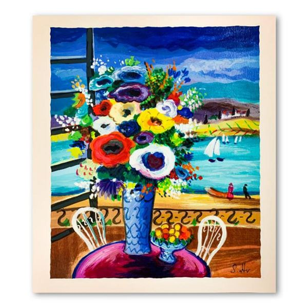 """Shlomo Alter, """"Balcony Views"""" Hand Signed Limited Edition Serigraph on Paper with Letter of Authenti"""