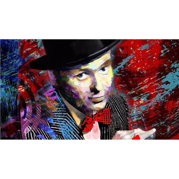"""Mark Braver- Original Mixed Media """"Sinatra"""""""