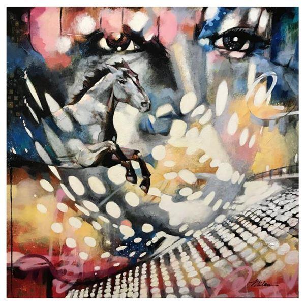 "John & Elli Milan, ""Longing"" Hand Signed Original Painting with COA."