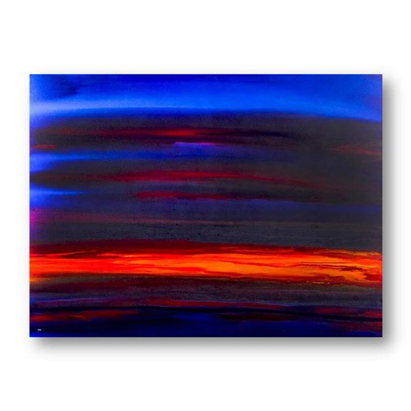 """Wyland, """"Pure Color"""" Hand Signed Original Painting on Canvas with Letter of Authenticity."""