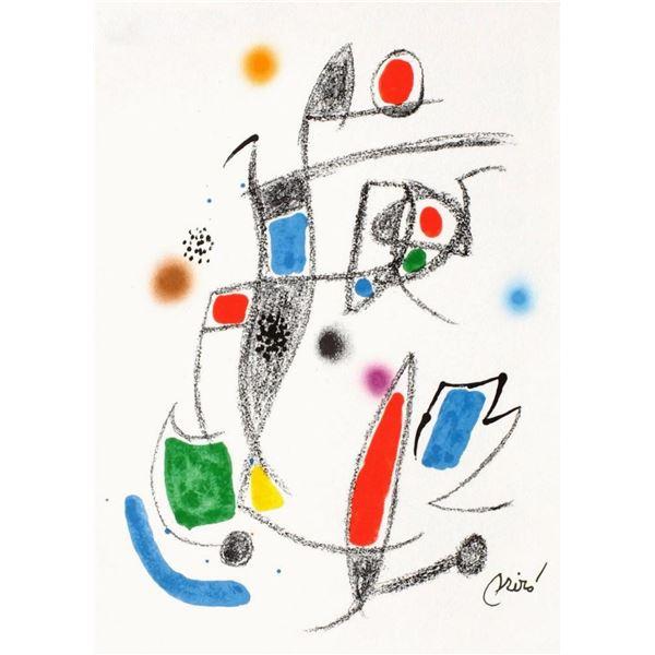 """Joan Miro- Lithograph """"Maravillas con variaciones acrosticas 10"""""""