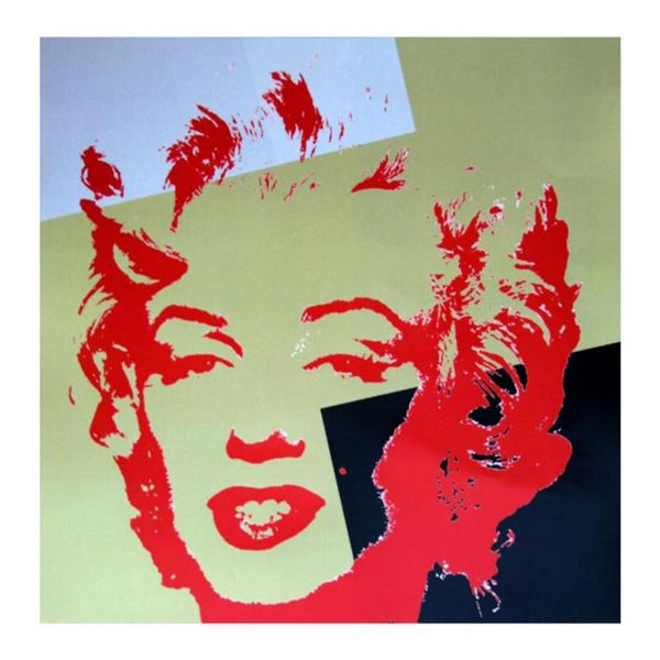 """Andy Warhol """"Golden Marilyn 11.44"""" Limited Edition Silk Screen Print from Sunday B Morning."""