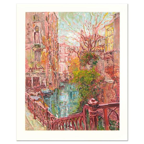 """Marco Sassone, """"Venice Reflections"""" Limited Edition Serigraph (32"""" x 40""""), Numbered and Hand Signed"""