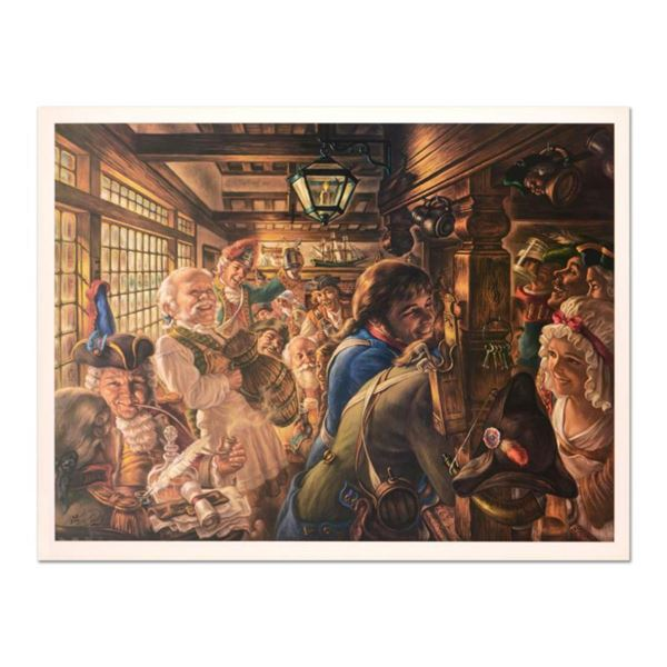 """Virginia Dan (1922-2014), """"Yankees Tavern 1776"""" Limited Edition Lithograph, Numbered and Hand Signed"""