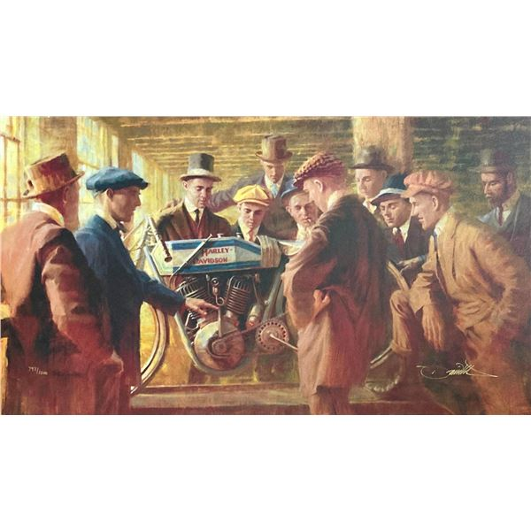 "David Uhl- Original Giclee on Canvas ""Great Doings"""