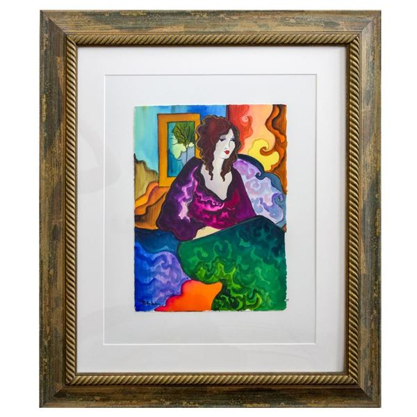 "Patricia Govezensky- Original Watercolor ""Marie"""