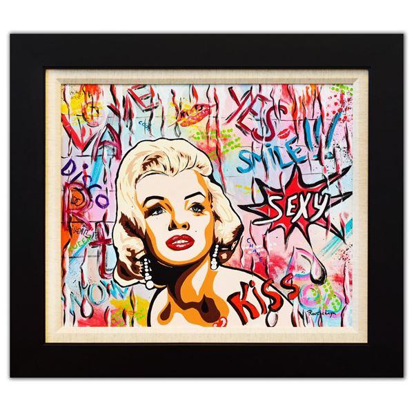 "Nastya Rovenskaya- Original Oil on Canvas ""Sexy Marilyn Monroe"""