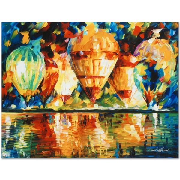 """Leonid Afremov (1955-2019) """"Balloon Show"""" Limited Edition Giclee on Canvas, Numbered and Signed. Thi"""