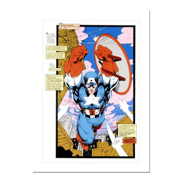 "Stan Lee Signed, ""Captain America, Sentinel: Uncanny X-Men #268"" Numbered Marvel Comics Limited Edit"