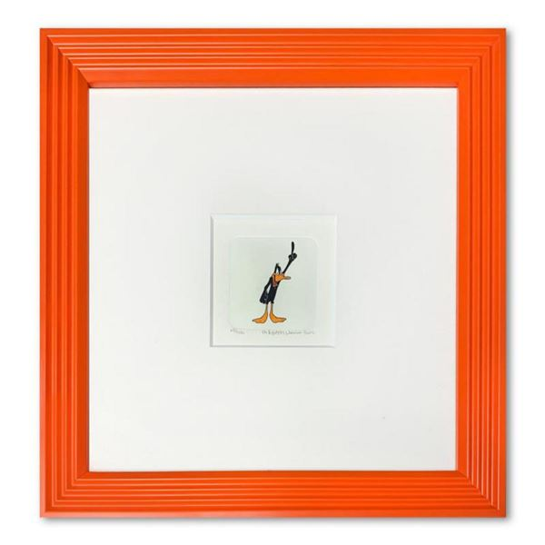 """""""Daffy Duck"""" Framed Limited Edition Etching with Hand-Tinted Color and Numbered."""