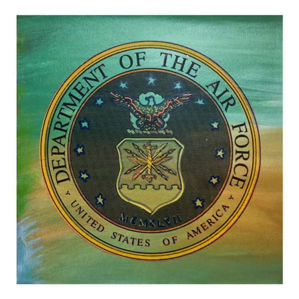 """Steve Kaufman (1960-2010) """"United States Air Force Seal"""" Hand Signed and Numbered Limited Edition Ha"""