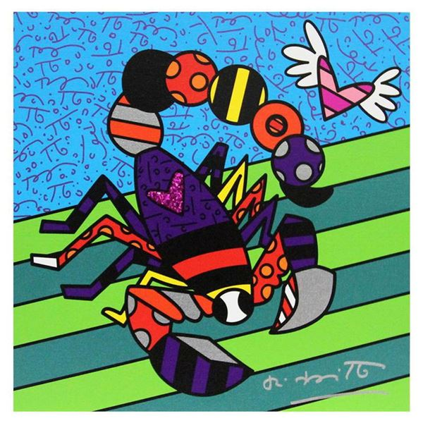 """Britto, """"Scorpio"""" Hand Signed Limited Edition Giclee on Canvas; Authenticated."""